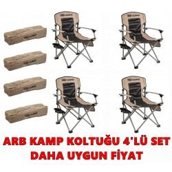 ARB Kamp Sandalyesi 4'lü Paket Set - Bej