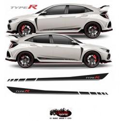 Honda Civic Type R FC5 - FK7 Yan Şeritler / Sticker Çıkartmalar
