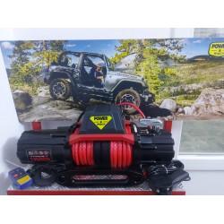 Power Winch 13500 lb Premium Sentetik Halatlı Off-Road 4x4 Elektrikli Vinç